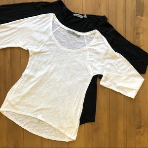 2 Athleta Long Sleeve Tees